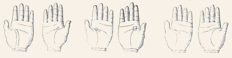 palm reading hands